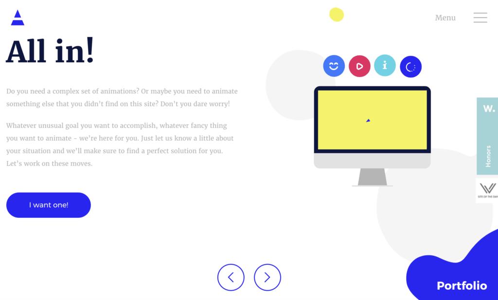 diseño web con animaciones