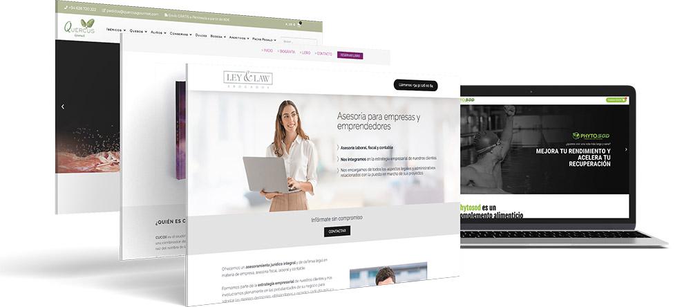 diseno web landing page