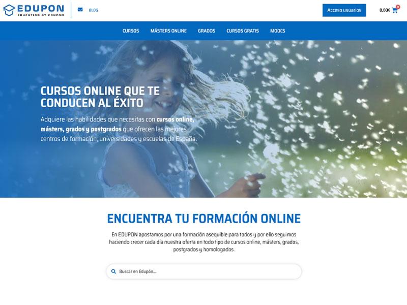 diseño web portal venta de cursos online