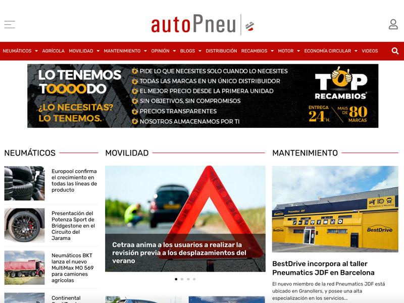 diseño web autoPneu