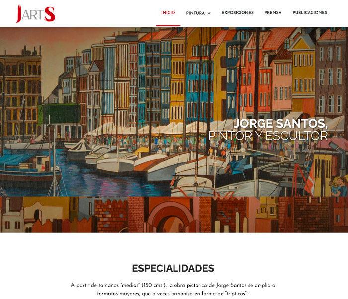 diseño web jorge santos pintor y escultor